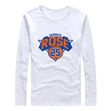 2017 Derrick Martell Rose New York #25 Autumn Winter Men T-Shirt Long Sleeve Tees T SHIRT Men's S-XXXL W1026037