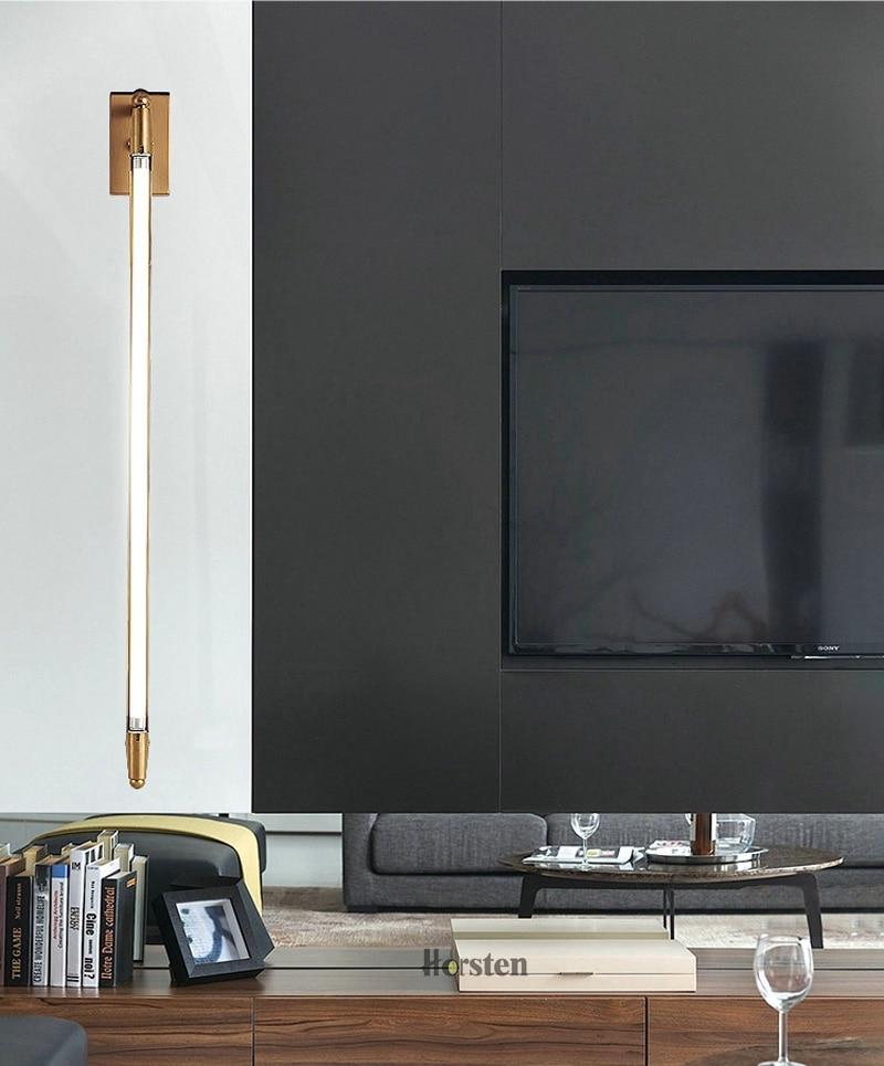 Nordic Minimalist T5 LED Wall Lamp 68cm Long Living Room Bar Bedroom Bedside Wall Lights Retro Home Decoration Lighting Fixtures 220V (5)