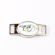 Nashville Predators NHL Hockey Team Logo Oval Shoelace Charms For Sport Shoes And Paracord Bracelets Jewelry Decoration 6pcs(China)