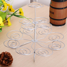 Detachable 3 Layers Iron Cake Stand 13 Cupcake Holder Cup Tray Table Decoration for Party Wedding Birthdays Easy to Use