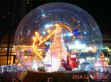 3M Inflatable Transparent Ball Advertising Snowball For Chrismas Decoration Inflatable Balloons Can Be Customized(China)