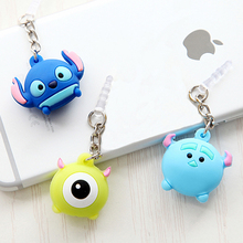 3 Pieces Cute 3.5mm Headphone Jack plug Music port Cartoon AUX audio 3.5 stopper for Iphone 5 6 Xiaomi PC latop notebook stopple(China)