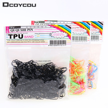 300pcs/pack Rubber Rope Ponytail Holder Elastic Hair Bands Ties Braids Plaits Hair Clip Headband Hair Accessories(China)