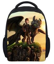 13 Inch Small School Backpacks 3D How to Train Your Dragon Printing Backpack Child for Kindergarten Students Baby Boys Girls Bag