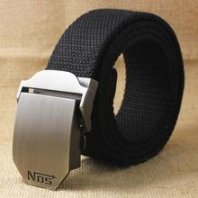 130cm Designer Belts For Men New 2016 Casual Belt High Quality Luxury Automatic Buckle Canvas Belt(China)