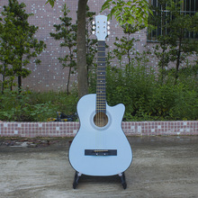 38 inches folk piano practice Basswood ballad guitar students Plating sky blue manufacturers selling wholesale length 96 cm