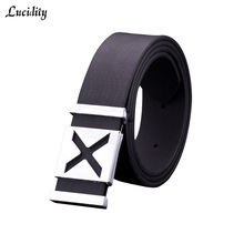 Lucidity Fashion Ladies Belts Classic Smooth Buckle Designer Womens Belts All-Match PU Leather Belt Brand Unisex
