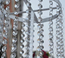 10 Meters 16mm Octagonal Acrylic Crystal Beaded Garland Strand Shimmer Curtain Party Wedding Decoration