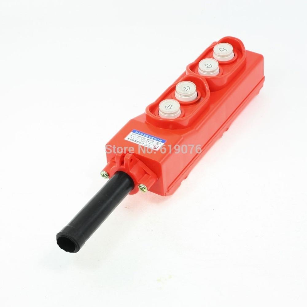 Rainproof 4 Way Hoist Pendant Control Station Push Button Switch COP-22<br>