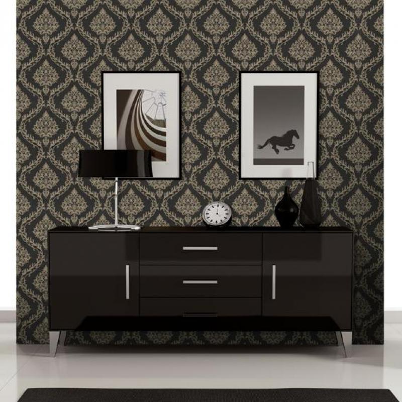 Black Wallpapers For Living Room Vinyle Autocollant Rouleau Black Flower Wallpaper Papel De Parede Infant 3d Embossed Wallpaper<br>