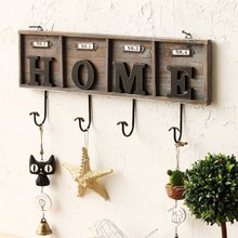 Retro decorative hook clothes hook old wooden wall hanging hook creative Home decoration