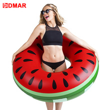 Inflatabale watermelon Swimming Ring Adult 3 Sizes Swimming Circle Inflatable Mattress Giant Pool Float Toys Mat Beach Water