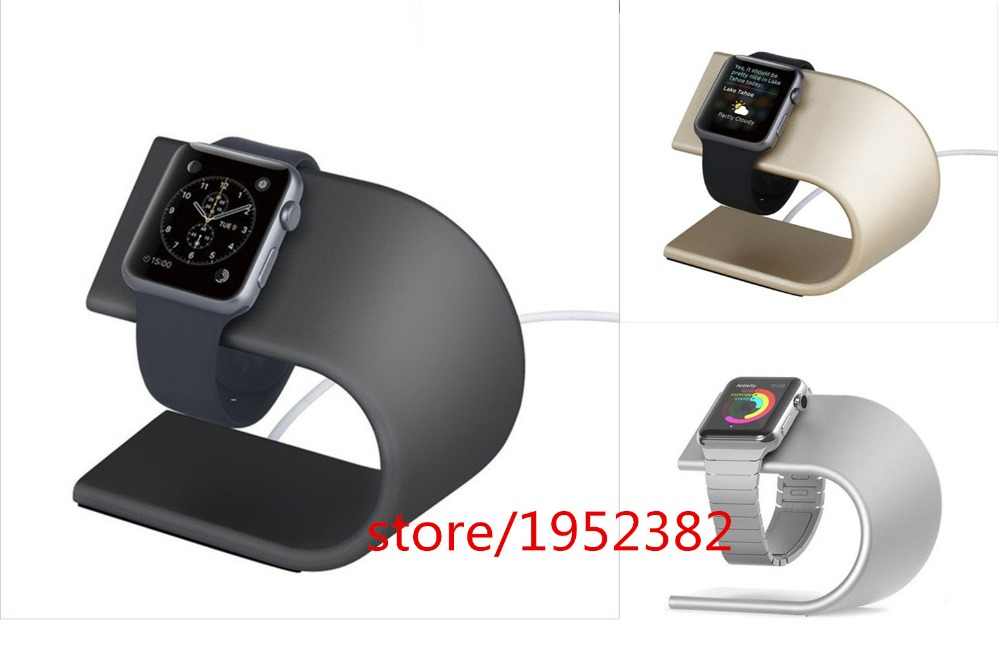 2017 New Luxury High Grade U Type Metal Bracket Display Dock Charging Stand Holder For Apple Watch Free shipping  <br><br>Aliexpress