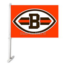 2PC Cleveland Browns Car Logo Flag(China)