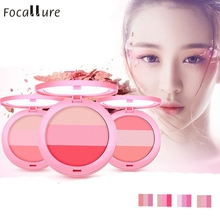2017 Hot Beauty Face Blush Makeup Baked Cheek Blusher Palette Colorete Sleek Cosmetic Face Shadow 17nov11(China)