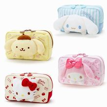 Cartoon Japan Hello Kitty My Melody Cinnamoroll Dog Pudding Dog Cosmetic Bags Storage Travel Pouch Girl makeup bags Pencil case(China)