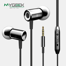 MyGeek 3.5mm Stereo Earphone Super Bass Headset with Mic for Mobile Phone iphone xiaomi huawei samsung Earphone