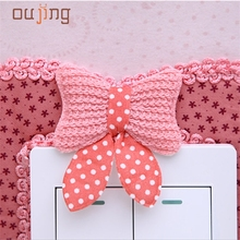 Home Wider Hot Selling Free shipping Safety New Design  Pastoral Style Switch Cover Butterfly Shape Switch Wall Stickers Dec13