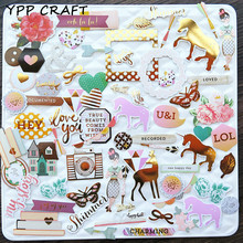 YPP CRAFT 70pcs My Story Colorful Cardstock Die Cuts for Scrapbooking Happy Planner/Card Making/Journaling Project DIY Craft