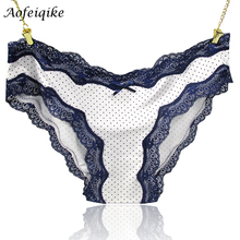 2016 Fashion Panties Female Sexy Full Lace Neon Color Lace Plus Size Summer Sexy See Through Underwear Lady's Briefs XK