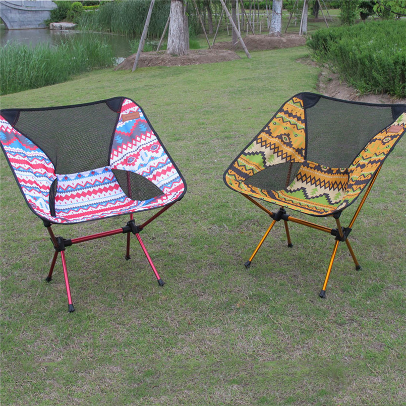 outdoor folding chair portable backrest reinforced lightweight camping supplies fishing chair
