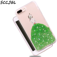 For iphone 6 6s case For Iphone 7 7s plus Bling sequins Glitter meteor Clear Hard Shell Phone Cases organizer
