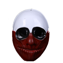 ZLJQ PVC Halloween HarvestDay2 Game Harvest Day 2 Series Mask Cosplay US Captain Clown Red Head Old Man 7D