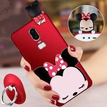 OnePlus 6 3D Minnie phone Cases One Plus 6 / 1+5T Cute Cartoon soft silicone minnie back cover +Strap  Co.,Ltd)