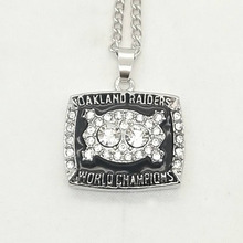 Wholesale 1980 Super Bowl Oakland Radiers Basketball Zinc silver plated Championship Necklace Custom Sports Replica Jewelry