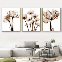 Peony Canvas Oil Painting Clear Beautiful Flower Photo Long Stem Floral Picture Wall Art Decoration Home Decor no Frame Prints