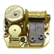 High Quality New Gold Plated Metal DIY Music Box Movement Wind Up Clockwork Music Box Movement