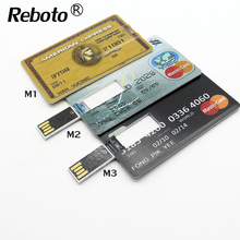 Hot sale 4GB 8GB 16GB 32GB 3 country Bank Credit Card Shape USB Flash Drive 64GB Pen Drive Memory Stick best gift U Disk