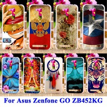 Soft TPU & Hard PC Painted Cases For Asus Zenfone GO 2nd Gen ZB452KG ASUS_X014D ZB450KL 4.5 inch Covers Phone Shell Housing Bags