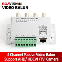 4Ch BNC Video Balun RJ45 Port Or Terminal Block UTP Cable Transfer CCTV Converter Plug And Play Support 720P HDCVI Camera 400m