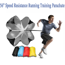 "56"" Speed Resistance Running Training Parachute Running Chute Football + Bag Increase Speed sports equipment football training(China)"