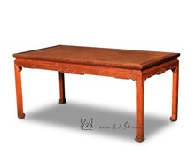 Rosewood Long Dining Table Rectangle Solid Wood Desk Home Living room Annatto Furniture Redwood Office Board Classic New Fashion(China)