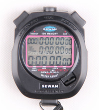 SEWEAN Stopwatch SW8-3100 Digital Chronograph 1/100 second Sports stop watch Counter timer 3 row 100 memories Lap split(China)