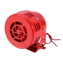 12V Electric Car Truck Motorcycle Driven Air Raid Siren Horn Alarm Loud 50s Red(China)