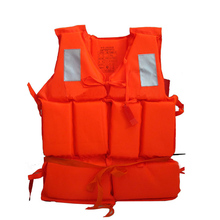 Professional Adult Working Life Jacket Orange Foam Vest Survival Suit with Whistle Outdoor Swimwear Water Sport Fishing(China)
