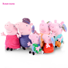 Genuine Twilight Sparkle pink Pepa Pig Plush pig Toys high quality hot sale Soft Stuffed cartoon Animal Doll For Children's Gift