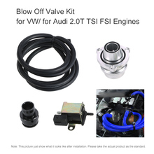 Car-styling Blow Off Valve Kit for VW/ for Audi 2.0T TSI FSI Engines 2017 High Quality Sliver Blow Off Valve(China)
