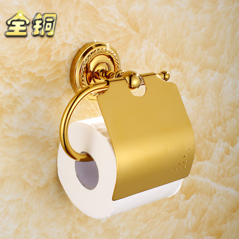 Copper toilet paper box toilet paper rack tissue box grass tray fashion antique gold plated roll holder<br><br>Aliexpress
