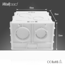 Plastic Wall Plate wall mount junction box type 86 Switch Cassette outlet wall switch box,enclosure flush box,Free Shipping(China)