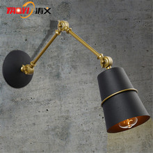 Factory direct sales wall lights classic iron retro wall lamp bedside vintage new design reading light