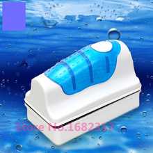 Hot Magnetic Brush Aquarium Fish Tank Glass Algae Scraper Cleaner Floating Curve Free shipping(China)