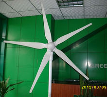 MAYLAR@ 15years life time 1000W 24V wind turbine,dolphin,5pcs blades,wind turbine, start wind speed 3m/s,CE Certification,