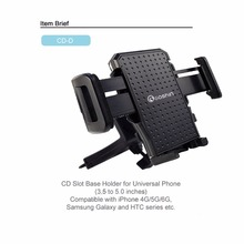 Gashin SALE Car Holder/holder Of  With CD SLOT mobile phone holder stands for Universal 360 Rotating GPS mount