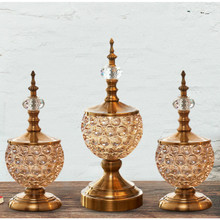 French glass furnishing articles classic decorations Electroplating process Retro style high quality elegant fine(China)