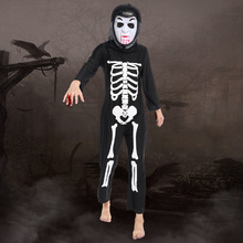 Kids Halloween Costume Skeleton Zombie Cosplay Costume Girls Boys Children's Day Performance Exotic Festival Disfraces 19003H