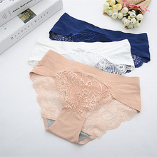 Buy High Quality Sexy Underwear Women Seamless Panties Lace Calcinha Breathable Briefs Comfort Hollow Lingerie Solid Panties 2NK135